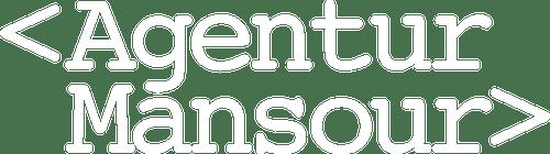 Logo der Agentur Mansour in weiss